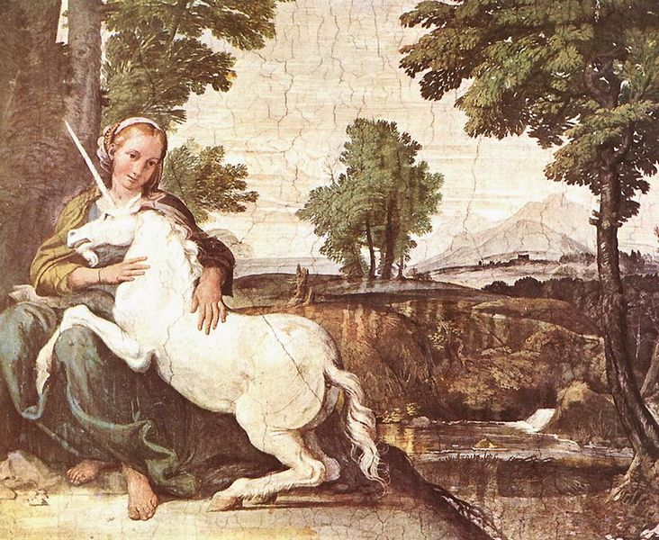 There are no good images for 'holiness,' so hear is a picture of a unicorn. by Domenico Zamperi