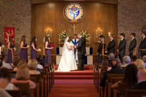 Our wedding in the Episcopal Church, June 2009