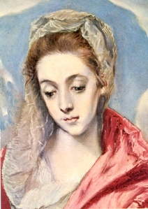 Detail from El Greco's The Holy Family with St. Anne